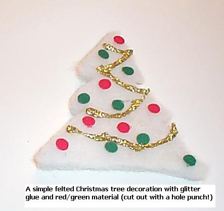 Felted Xmas tree decoration
